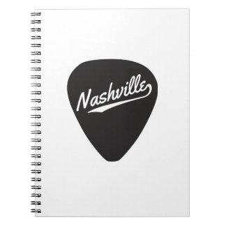 Nashville Guitar Pick Spiral Notebook
