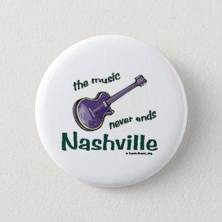 Nashville Guitar Pinback Button