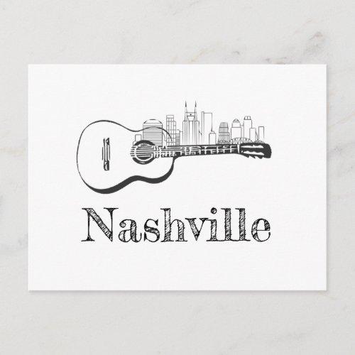 Nashville Guitar skyline Postcard