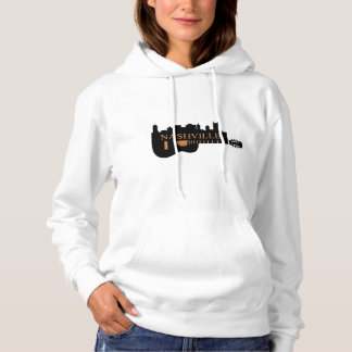 Nashville Guitar Skyline Women's Hooded Sweatshirt
