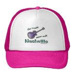 Nashville Guitar Trucker Hats