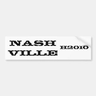 Nashville, H2010 bumper sticker