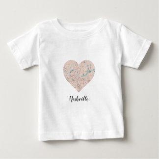 Nashville Heart Map Baby T-Shirt