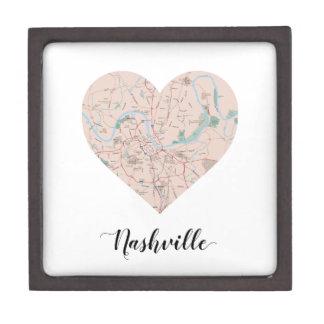 Nashville Heart Map Gift Box