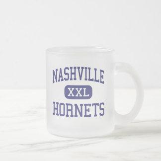 Nashville Hornets Middle Nashville Illinois Frosted Glass Coffee Mug