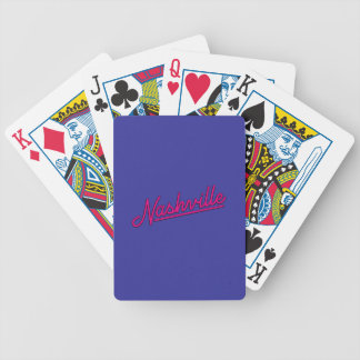 Nashville in Magenta Bicycle Playing Cards