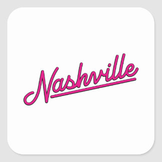 Nashville in Magenta Square Sticker