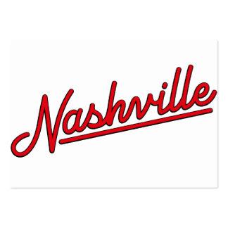 Nashville in Red Business Card