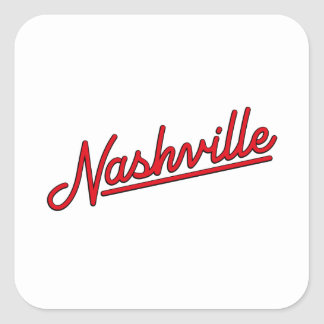 Nashville in Red Square Sticker