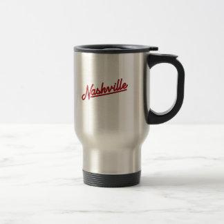Nashville in Red Travel Mug