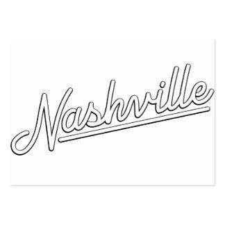 Nashville in White Business Card