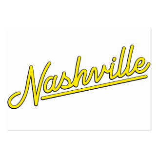 Nashville in Yellow Business Card Templates