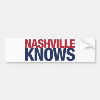 Nashville Knows Bumper Sticker