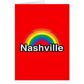 NASHVILLE LGBT PRIDE RAINBOW GREETING CARD