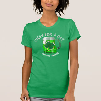 Nashville Lucky for a Day Women's Green T-Shirts