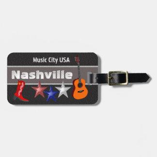Nashville - luggage tag