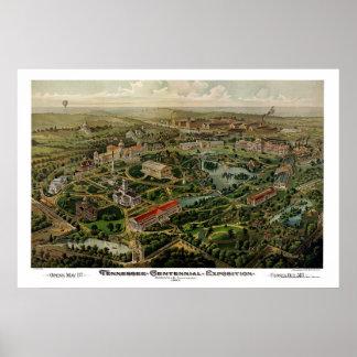 Nashville, mapa panorámico del TN - 1897 Impresiones