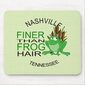 Nashville más fina que el pelo Mousepad de la rana