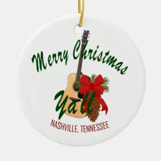 Nashville Merry Christmas Yall Ornament