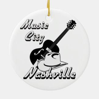Nashville. Music city Ceramic Ornament