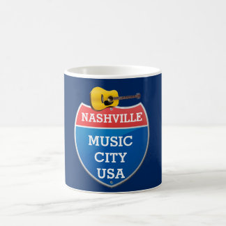 Nashville - Music City - coffee mug