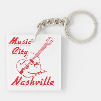 Nashville. Music city Double-Sided Square Acrylic Keychain