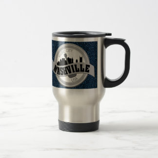 Nashville Music City Stainless Steel Travel Mug