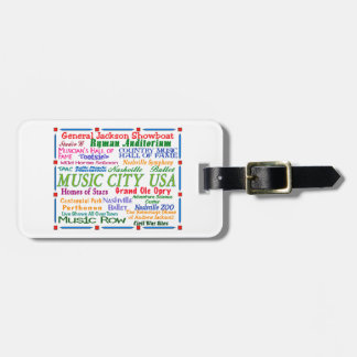 Nashville Music City Tag For Luggage
