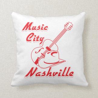 Nashville. Music city Throw Pillow