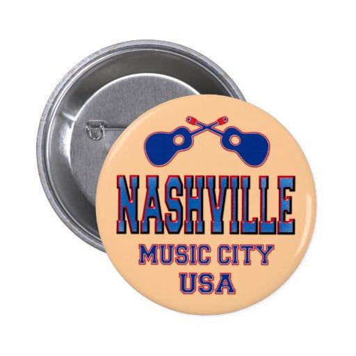 Nashville, Music City USA 2 Inch Round Button