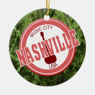 Nashville Music City USA Circle Ornament