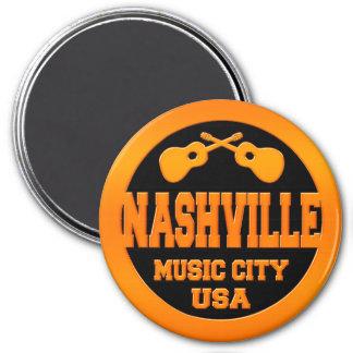 Nashville Music City USA 3 Inch Round Magnet