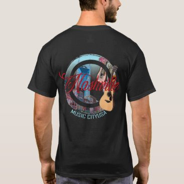 USA Themed Nashville Music City USA Men's T-Shirt