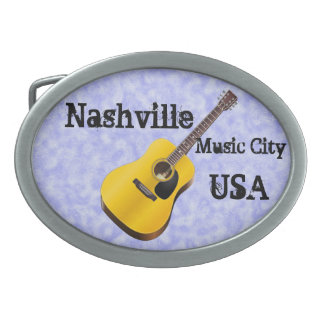 Nashville Music City USA Oval Belt Buckle