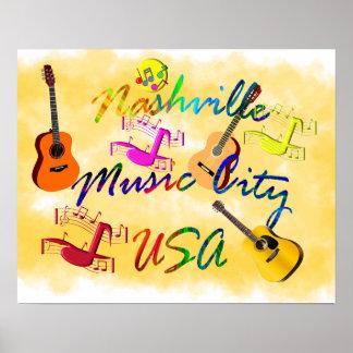 Nashville - Music City USA Poster