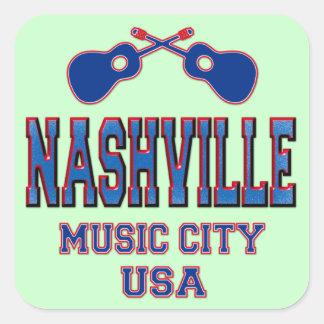 Nashville, Music City USA Square Sticker