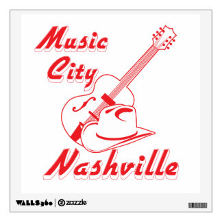 Nashville. Music city Wall Decal