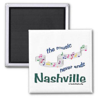 Nashville Music Notes 2 Inch Square Magnet