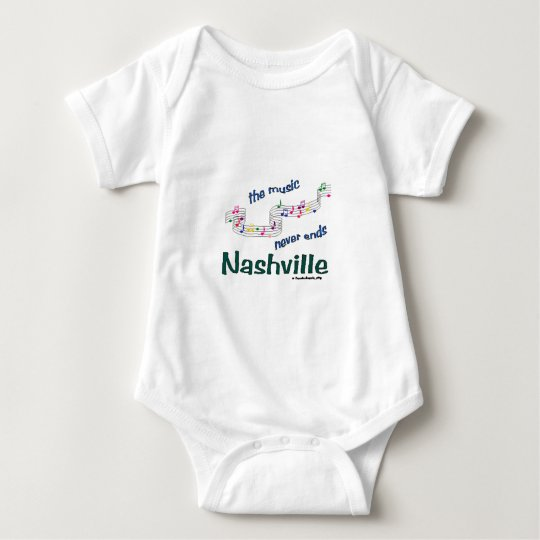 Nashville Music Notes Baby Bodysuit