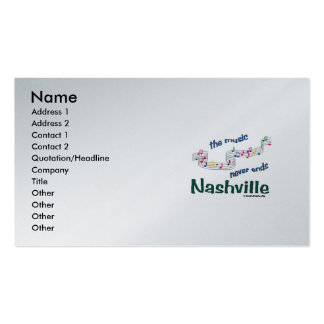 Nashville Music Notes Double-Sided Standard Business Cards (Pack Of 100)