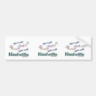 Nashville Music Notes Car Bumper Sticker