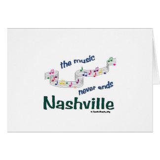 Nashville Music Notes Greeting Card