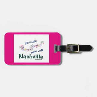 Nashville Music Notes Luggage Tag