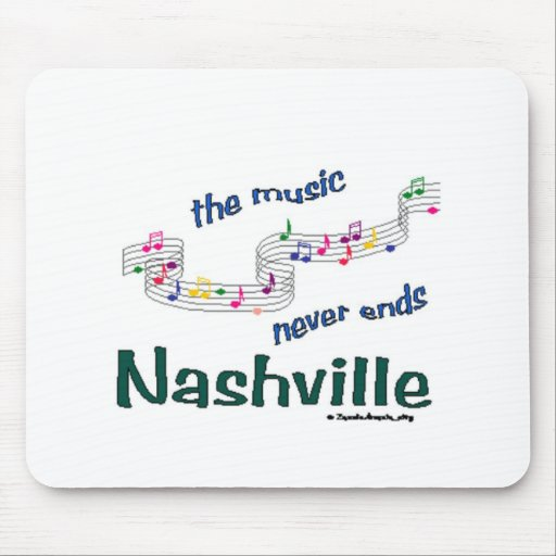 Nashville Music Notes Mouse Pad