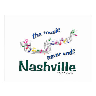 Nashville Music Notes Postcard