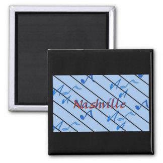 Nashville Notes Blue 2 Inch Square Magnet