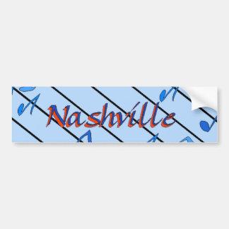 Nashville Notes Blue Car Bumper Sticker