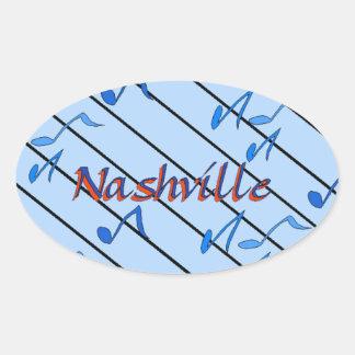 Nashville Notes Blue Oval Sticker
