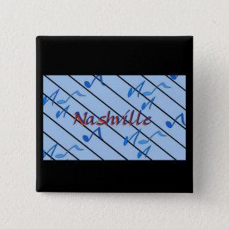 Nashville Notes Blue Pinback Button