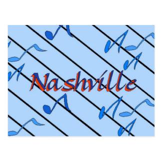 Nashville Notes Blue Postcard